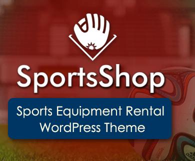 SportsShop - Sports Equipment Rental WordPress Theme & Template