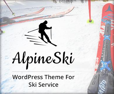 AlpineSki - Ski Service WordPress Theme And Template