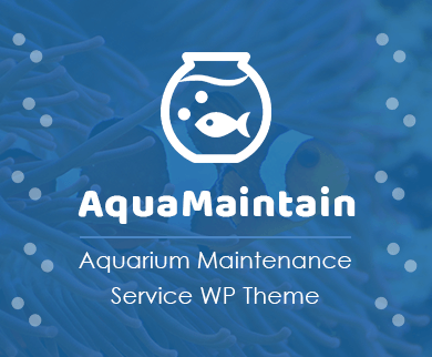 Aqua Maintain - Aquarium Maintenance Service WordPress Theme & Template
