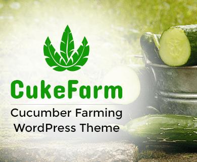 Cuke Farm - Cucumber Farming WordPress Theme & Template