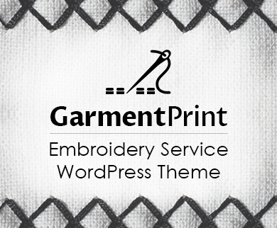 GarmentPrint - Embroidery Service WordPress Theme & Template