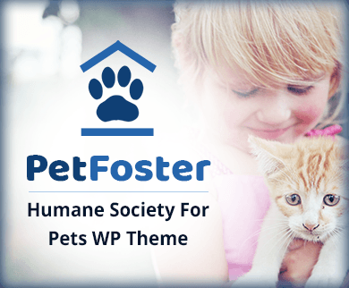 PetFoster - Humane Society For Pets WordPress Theme & Template