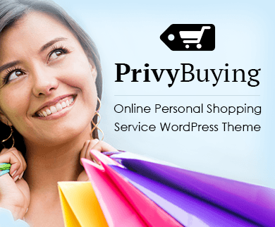 Privy Buying - Online Personal Shopping Service WordPress Theme & Template