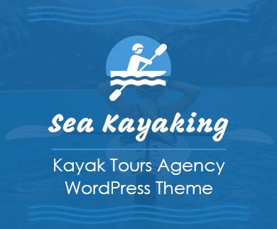 Sea Kayaking - Kayak Tours Agency WordPress Theme & Template