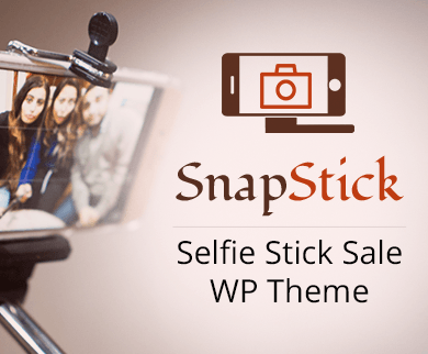 Snap Stick - Selfie Stick Sale WordPress Theme & Template
