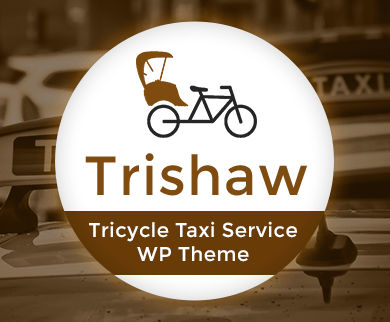 Trishaw - Tricycle Taxi Service WordPress Theme & Template