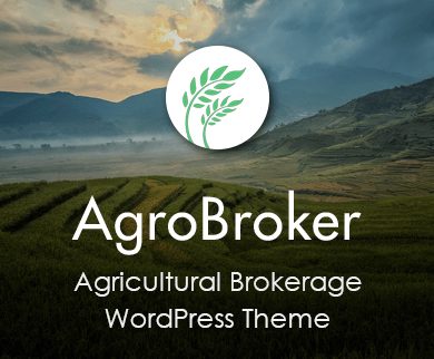 Agro Broker - Agricultural Brokerage WordPress Theme And Template