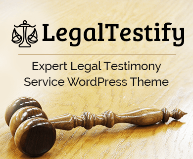 LegalTestify - Expert Legal Testimony Service WordPress Theme And Template