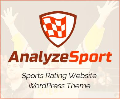 Analyze Sport - Sports Rating Website WordPress Theme And Template