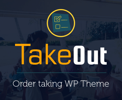 TakeOut - Order Taking WordPress Theme & Template