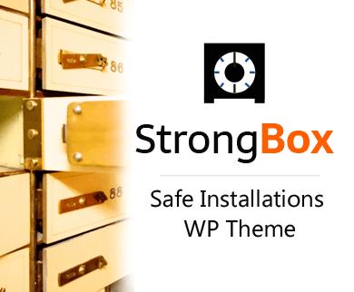 Strong Box - Safe Installations WordPress Theme & Template