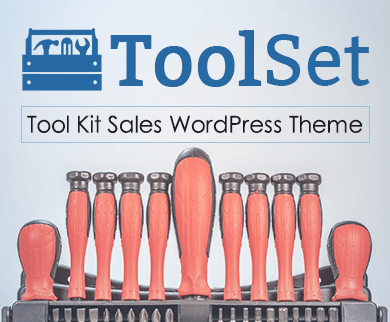 Tool Set - Tool Kit Sales WordPress Theme & Template