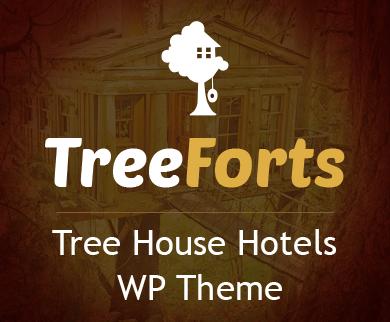Tree Forts - Tree House Hotels WordPress Theme