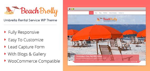Umbrella Rental Service WordPress Theme
