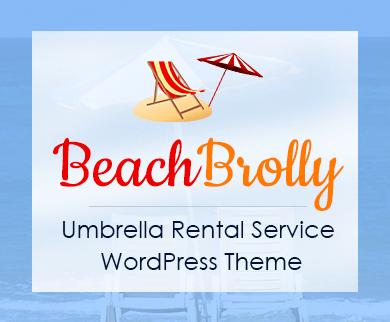 Beach Brolly - Umbrella Rental Service WordPress Theme & Template