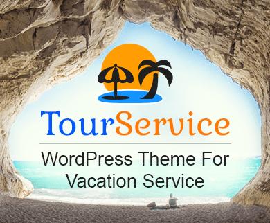 Tour Service - Vacation Service WordPress Theme & Template