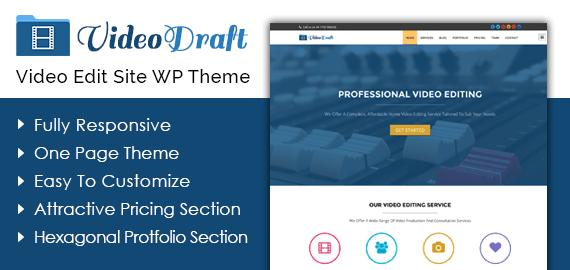 Video Edit Site WordPress Theme