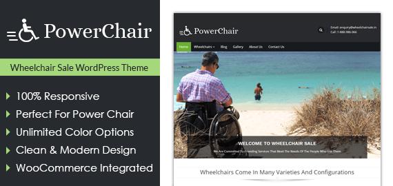 Wheelchair Sale WordPress Theme