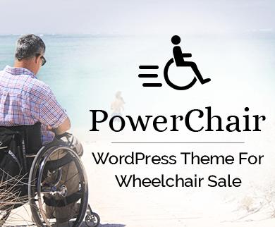 Power Chair - Wheelchair Sale WordPress Theme & Template