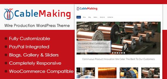 Wire Production WordPress Theme