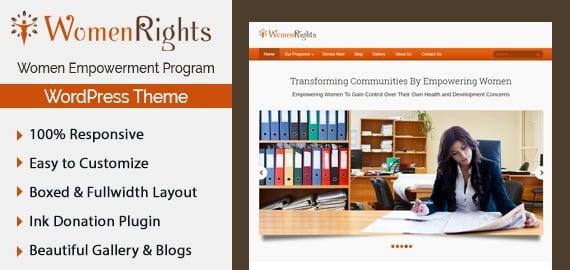 Women Empowerment Program WordPress Theme & Template