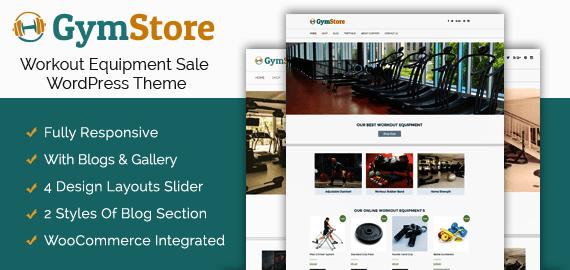 Workout Equipment Sale WordPress Theme