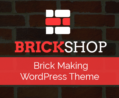 Brick Shop - Brick Making WordPress Theme & Template