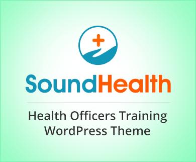Sound Health - Health Officers Training Program WordPress Theme