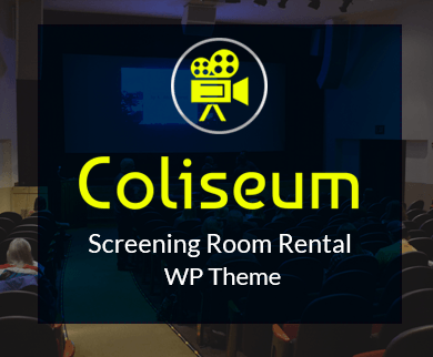 Coliseum - Screening Room Rental WordPress Theme & Template