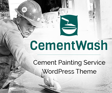 CementWash - Cement Painting Service WordPress Theme & Template