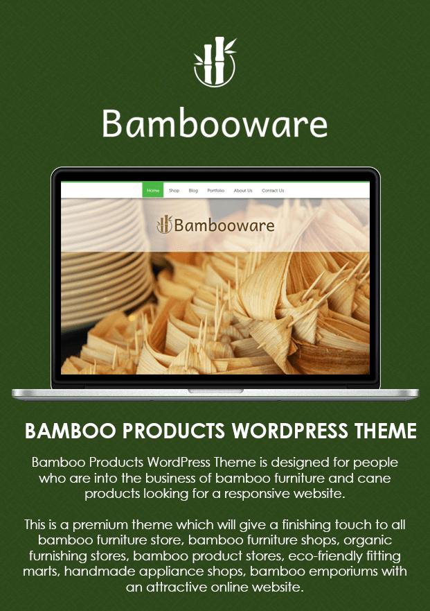 Bambooware - Bamboo Products WordPress Theme