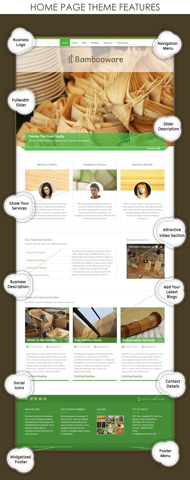 Features - Bamboo Products WordPress Theme