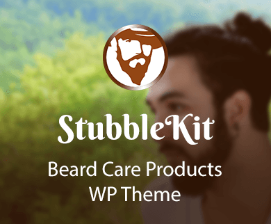 Stubble Kit - Beard Care Products WordPress WooCommerece Theme & Template