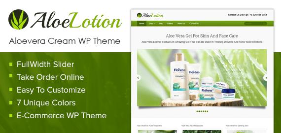 Aloevera Cream WordPress Theme