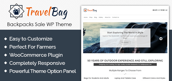 Backpacks Sale WordPress Theme