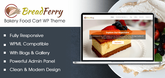 Bakery Food Cart WordPress Theme