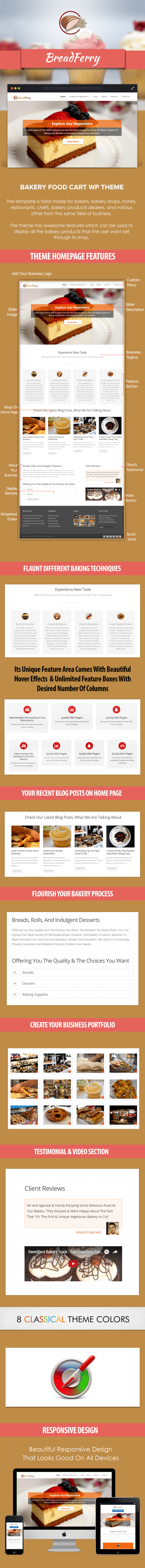 Bakery Food Cart WP Theme