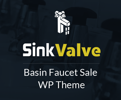 Sink Valve - Basin Faucet Sale WordPress Theme & Template