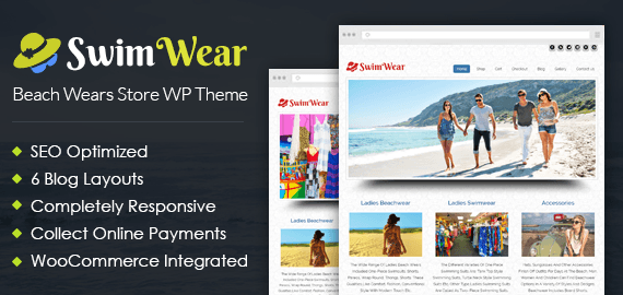 Beach Wears Store WordPress Theme