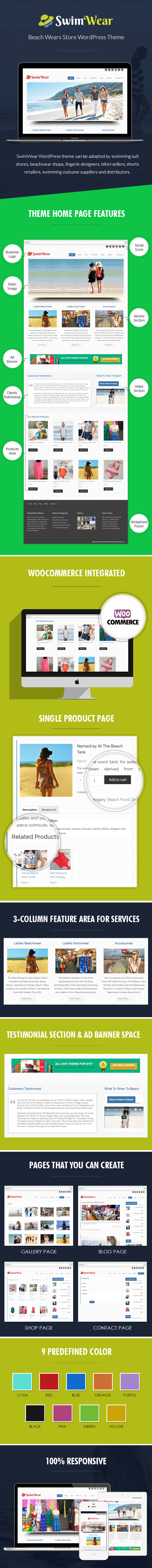 Beach Wears Store WP Theme