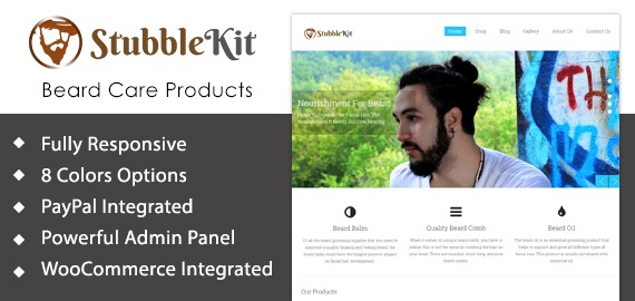 Beard Care Products WooCommerece WordPress Theme