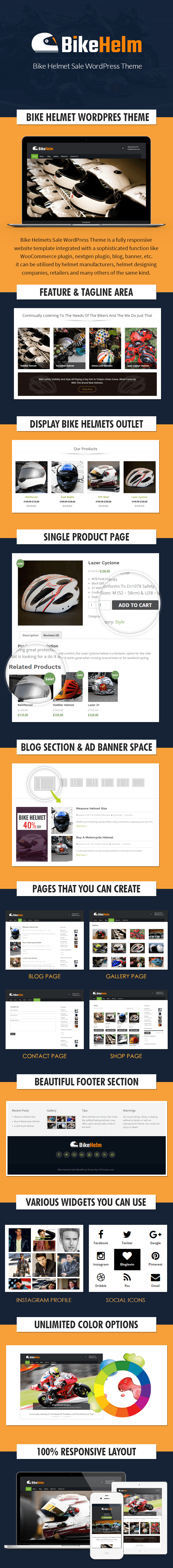 Bike Helmets Sale WordPress Theme Sales