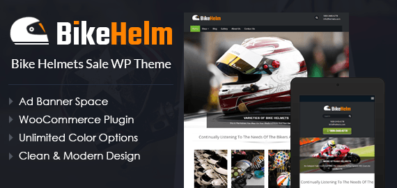 Bike Helmets Sale WordPress Theme