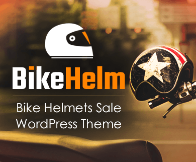 Bike Helm - Bike Helmets Sale WordPress Theme & Template