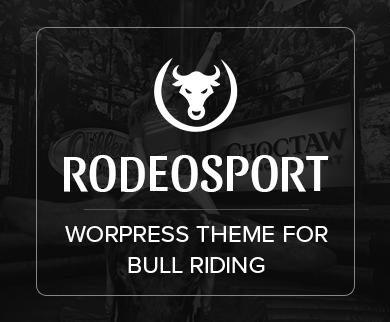Rodeo Sport - Bull Riding WordPress Theme & Template