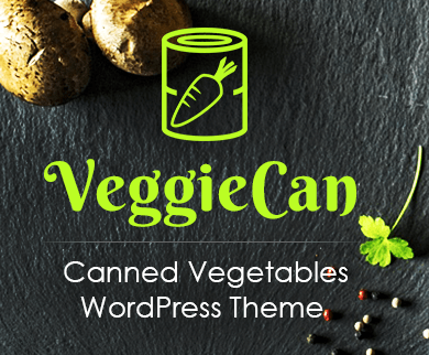 Veggie Can - Canned Vegetables WordPress Theme & Template