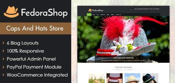 Caps And Hats Store WordPress Theme