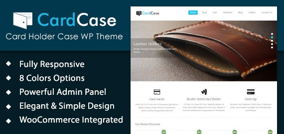Card Holder Case WordPress Theme