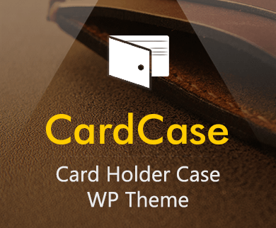 Card Case - Card Holder Case WordPress Theme & Template