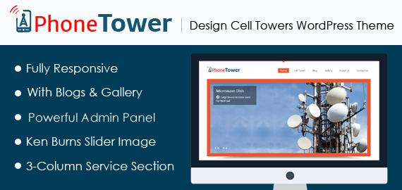Design Cell Towers WordPress Theme